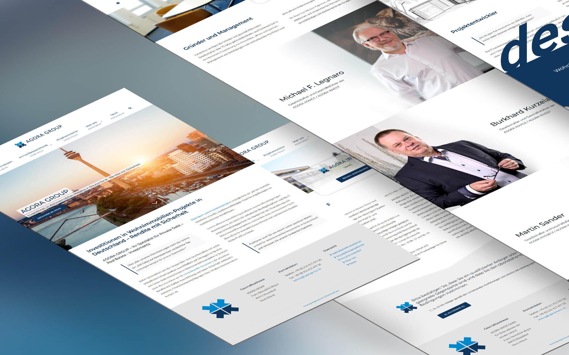 Redesign Website für die AGORA GROUP