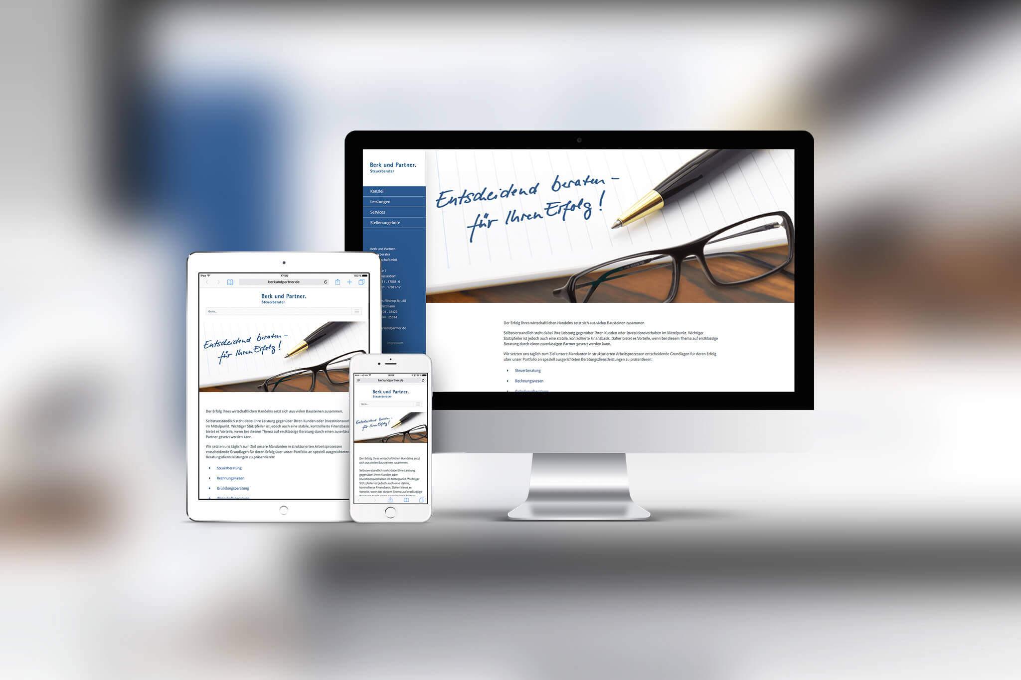 WordPress Website Berk und Partner