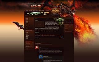Casdah WordPress Theme mit Cataclysm Hintergrund