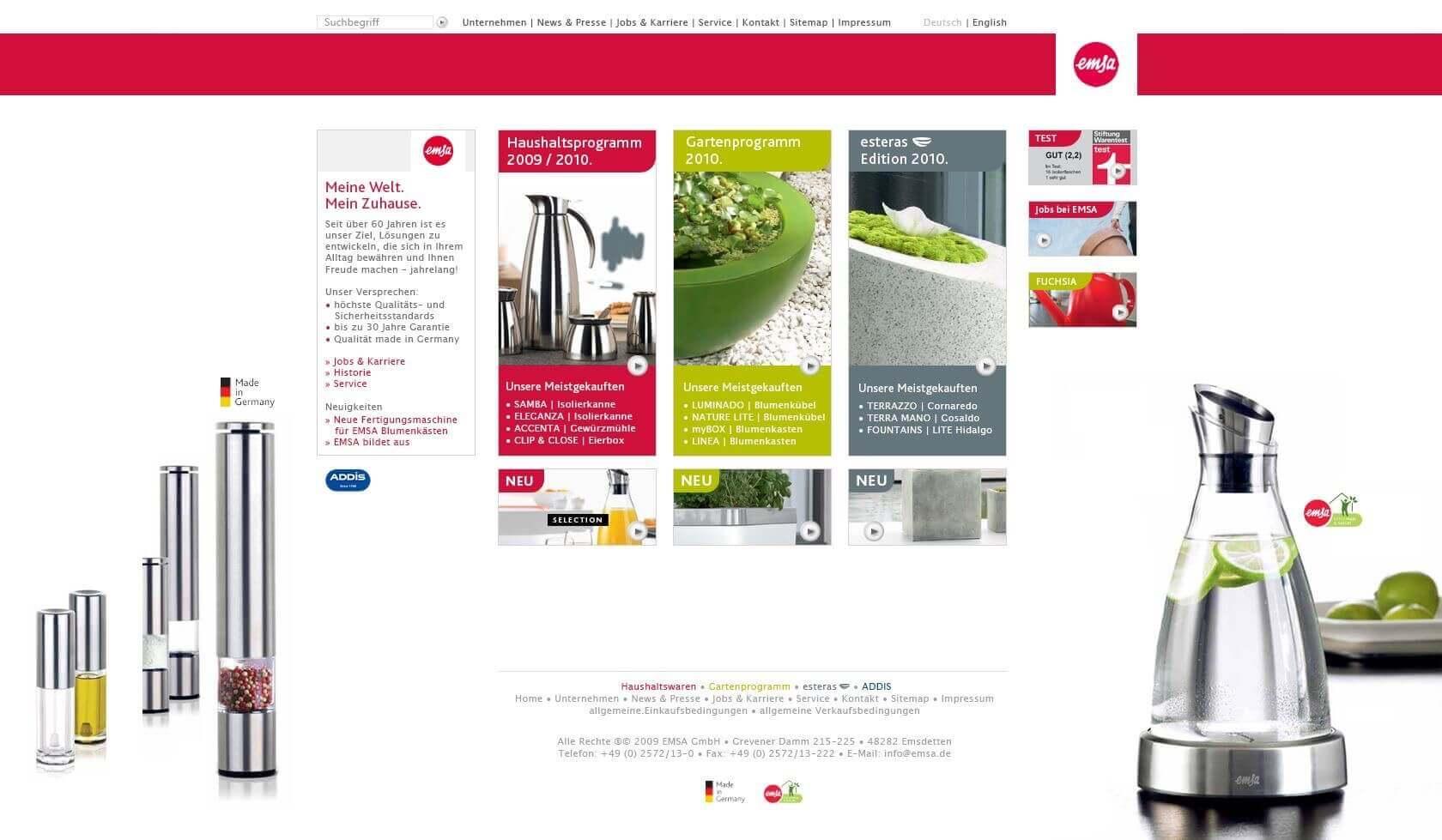 Konzept Website EMSA