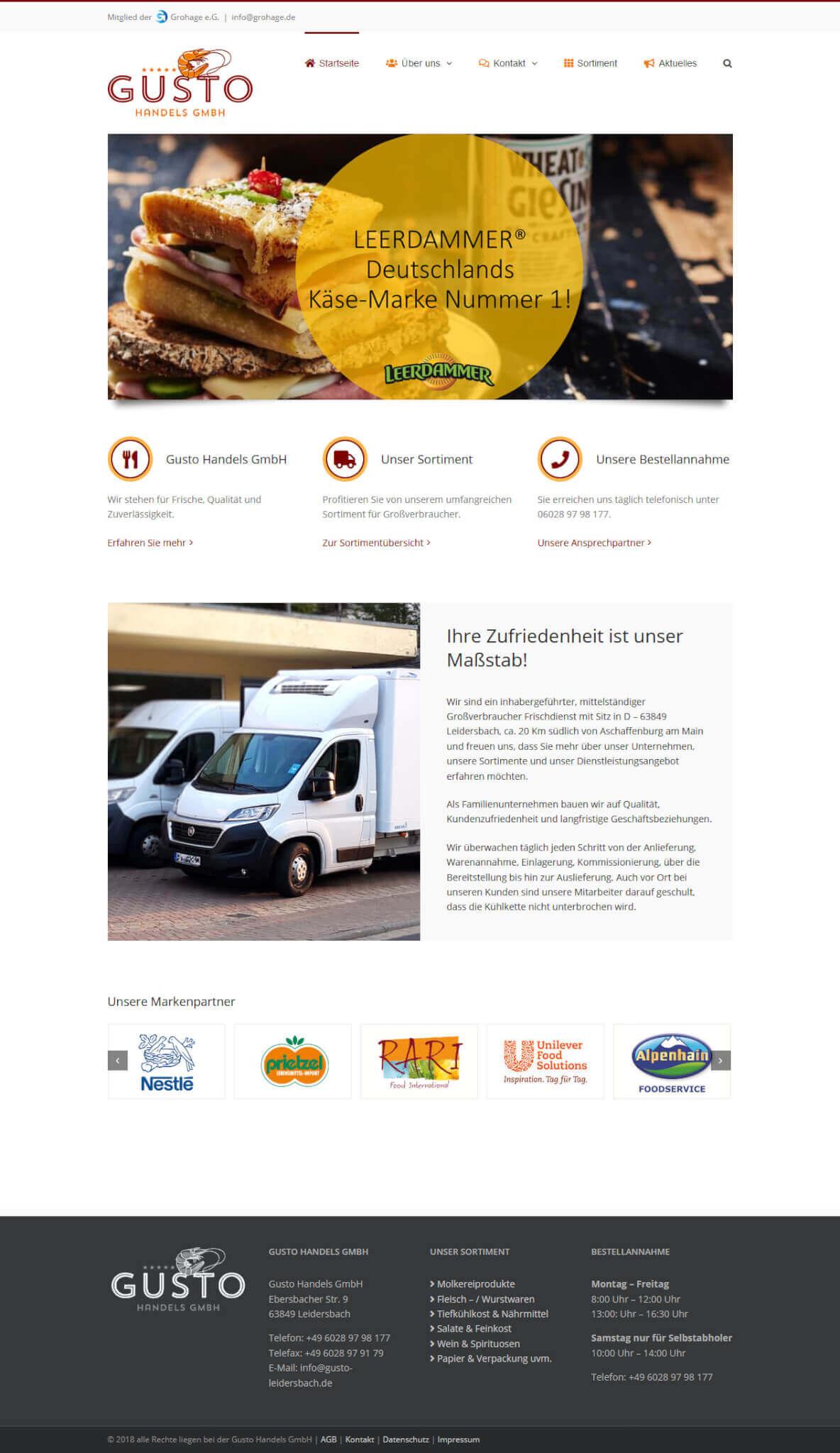 Website Gusto Handels GmbH