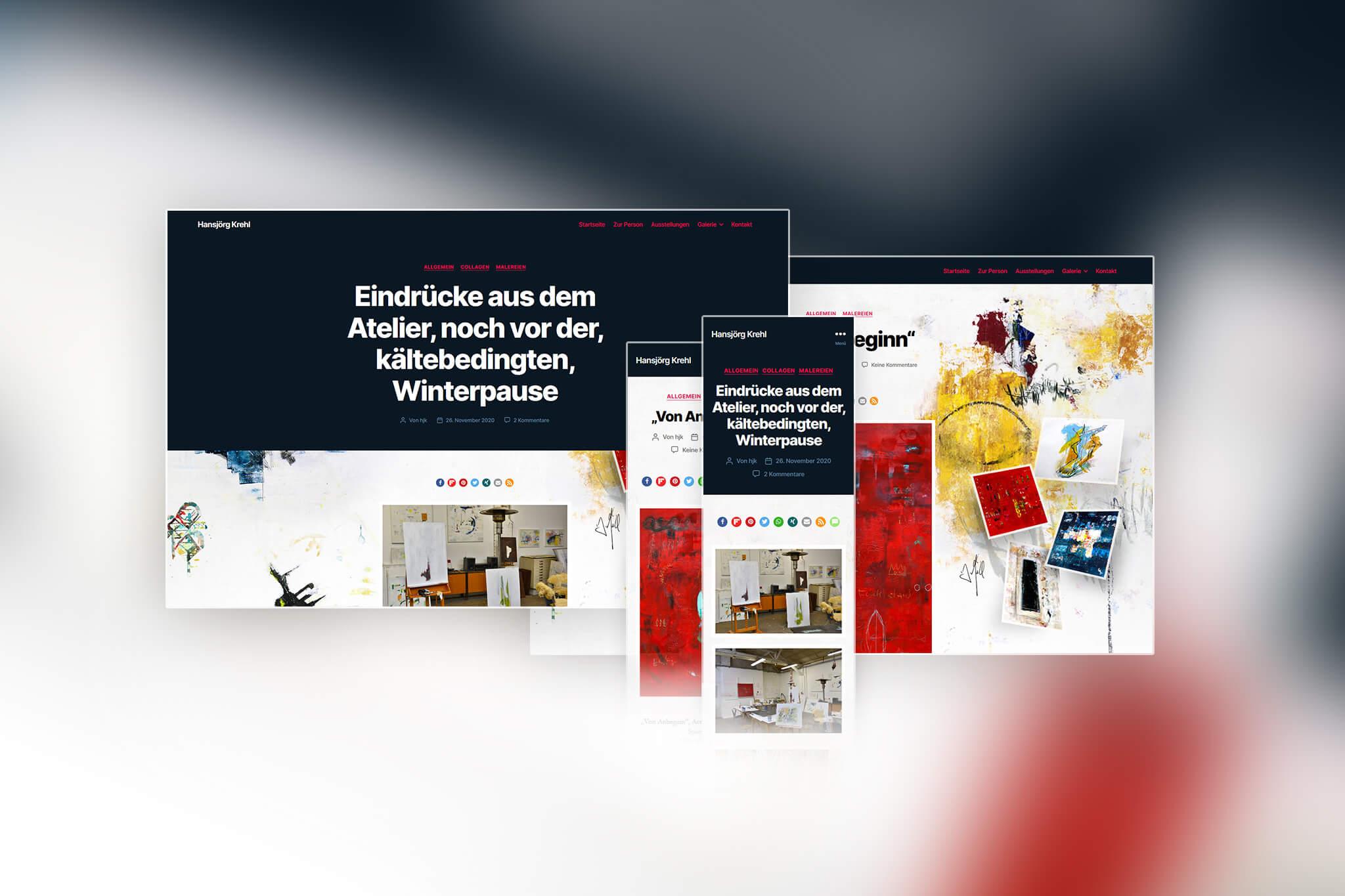 Redesign der Website von Hansjörk Krehl