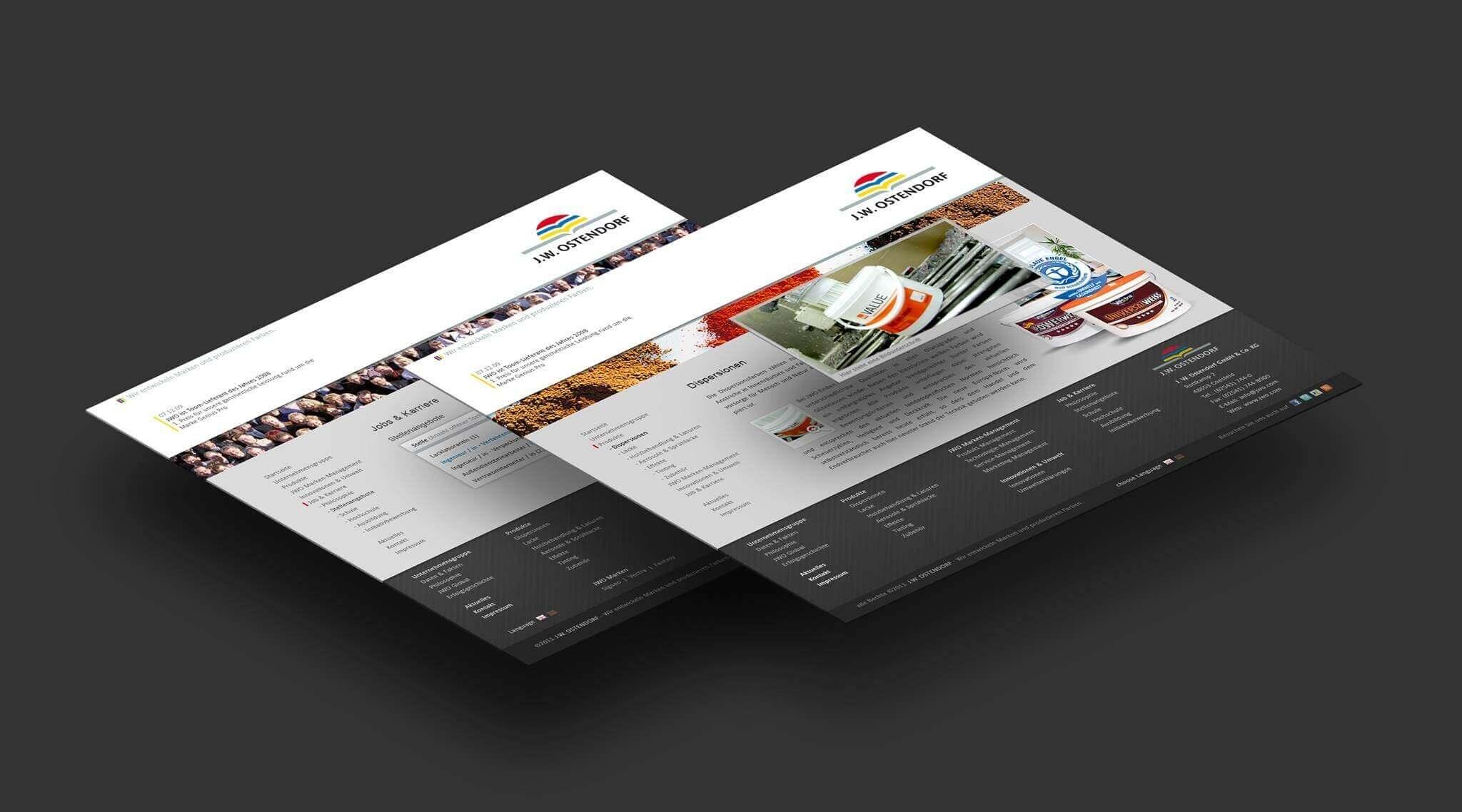 statische Website für J.W. Ostendorf