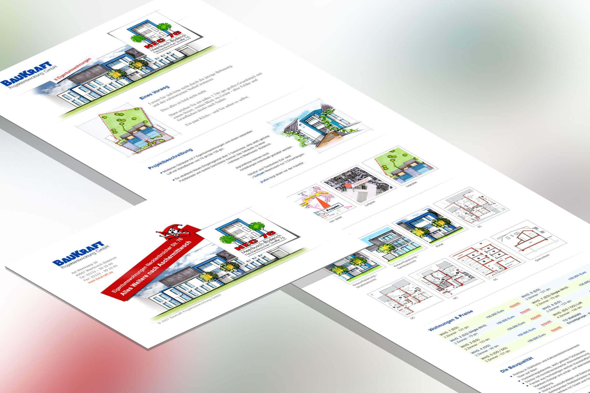 OnePager für Baukraft
