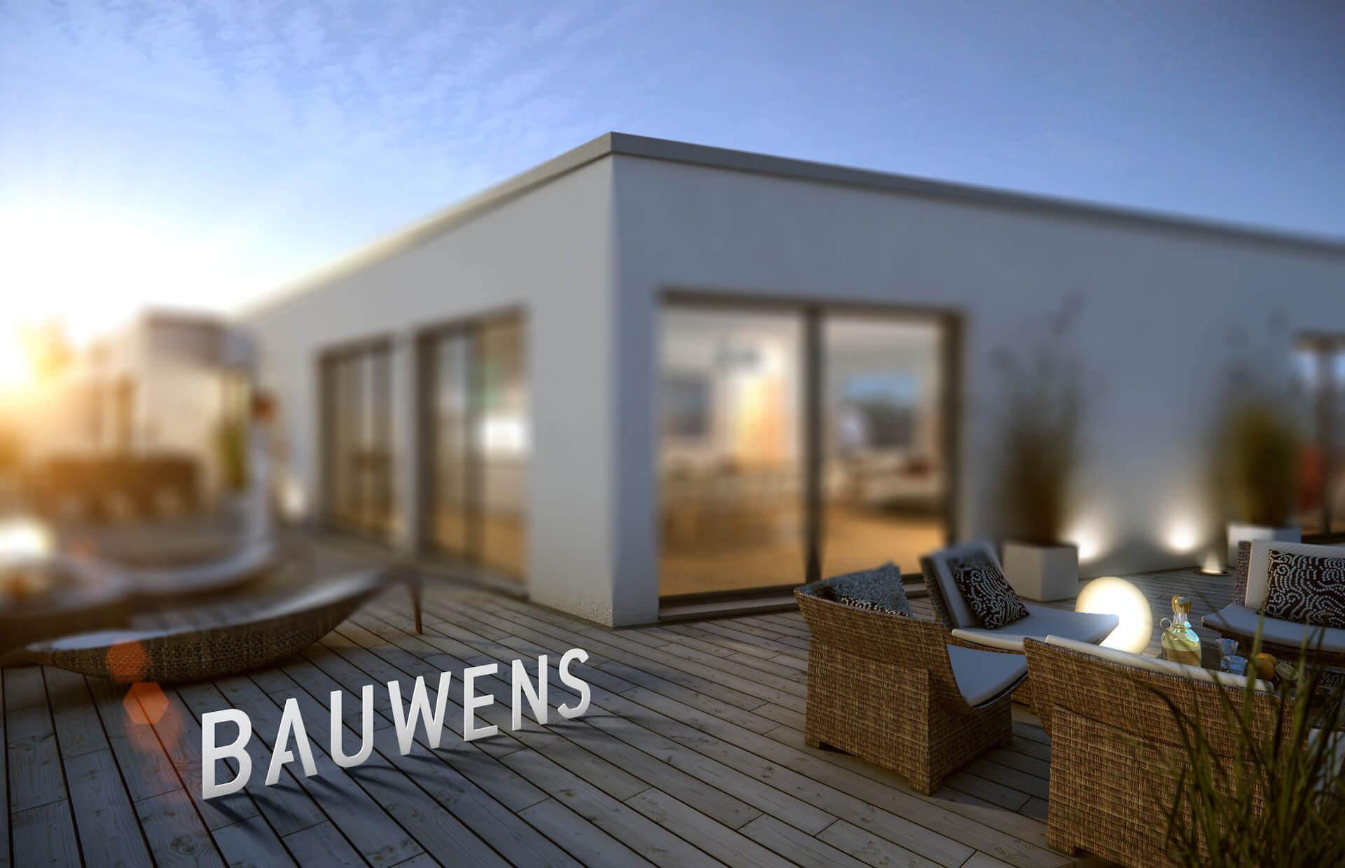 2D-3D Composing in Cinema4D für Bauwens