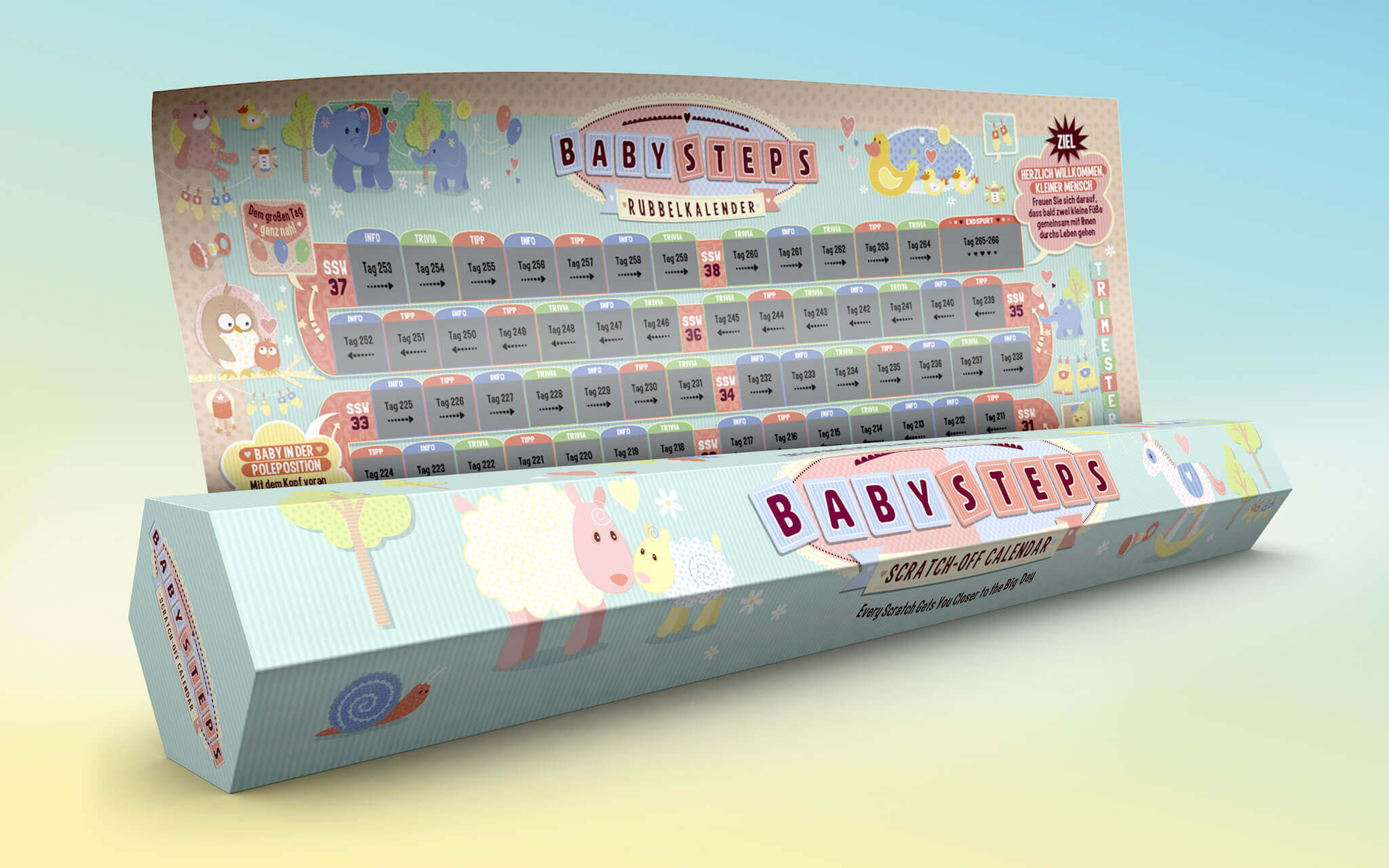 3D Visualisierung Rubbelkalender
