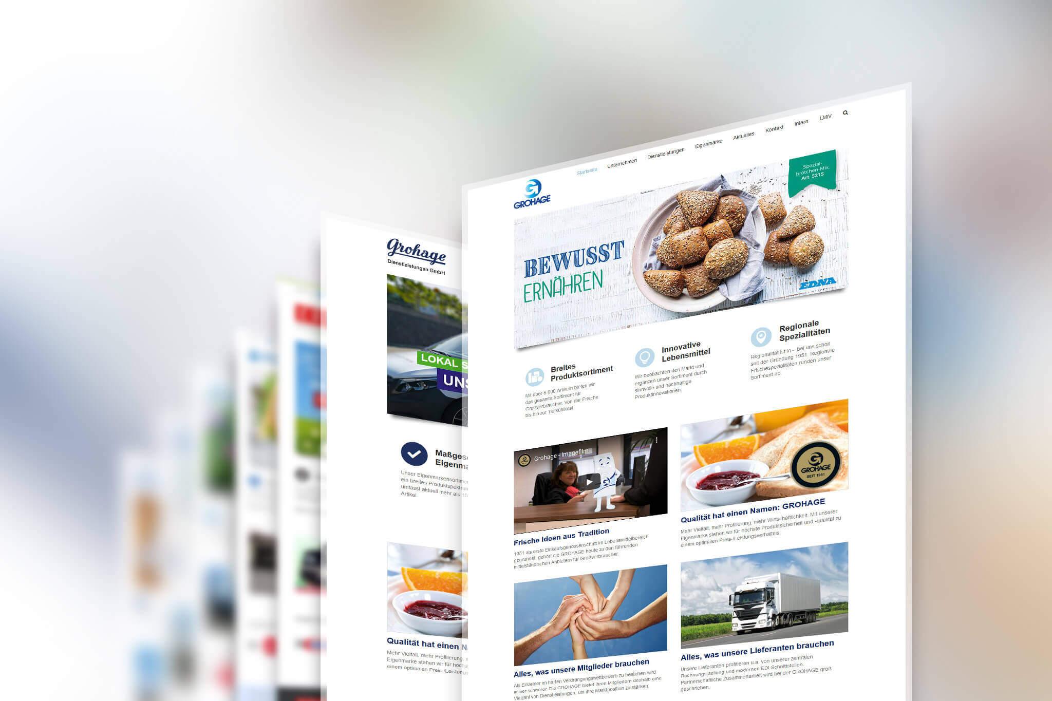 WordPress Multisite Website Grohage eG