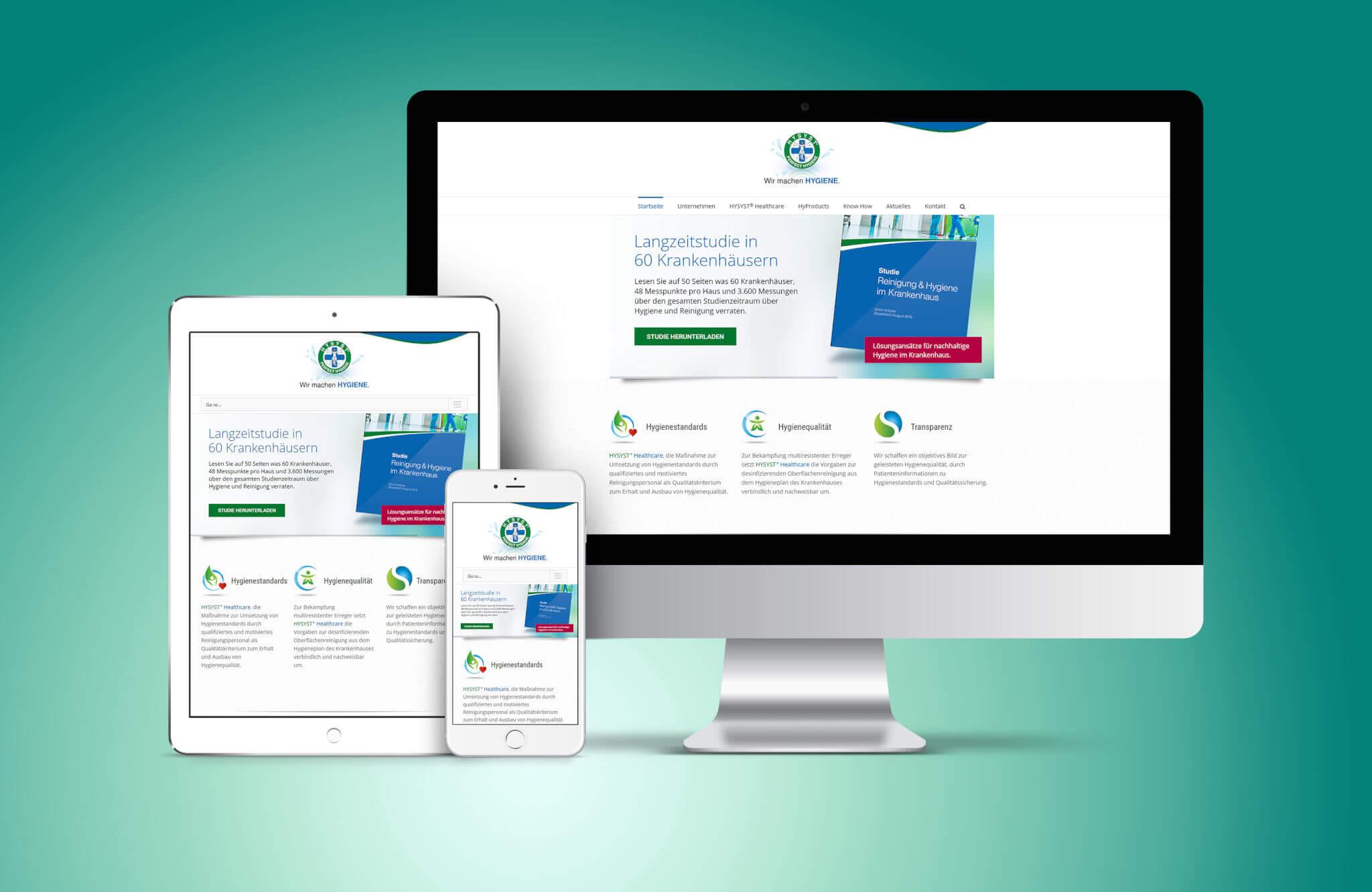 WordPress Website für HYSYST