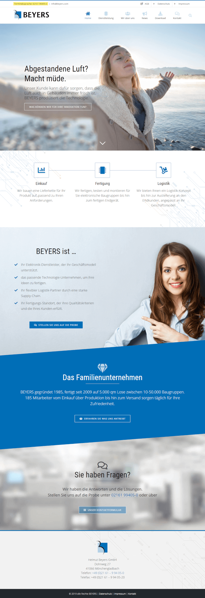WordPress Website Flyer BEYERS