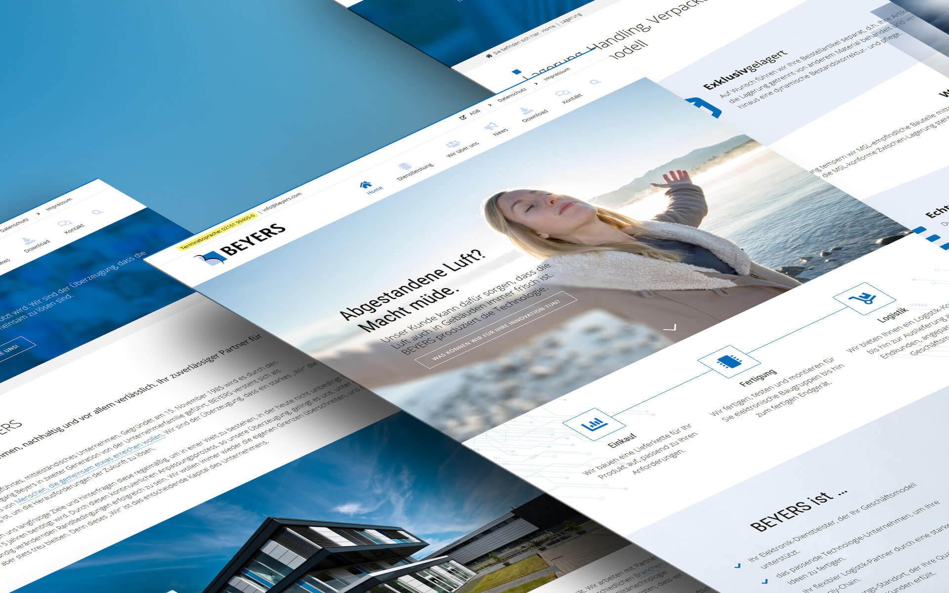 WordPress Website Flyer BEYERS