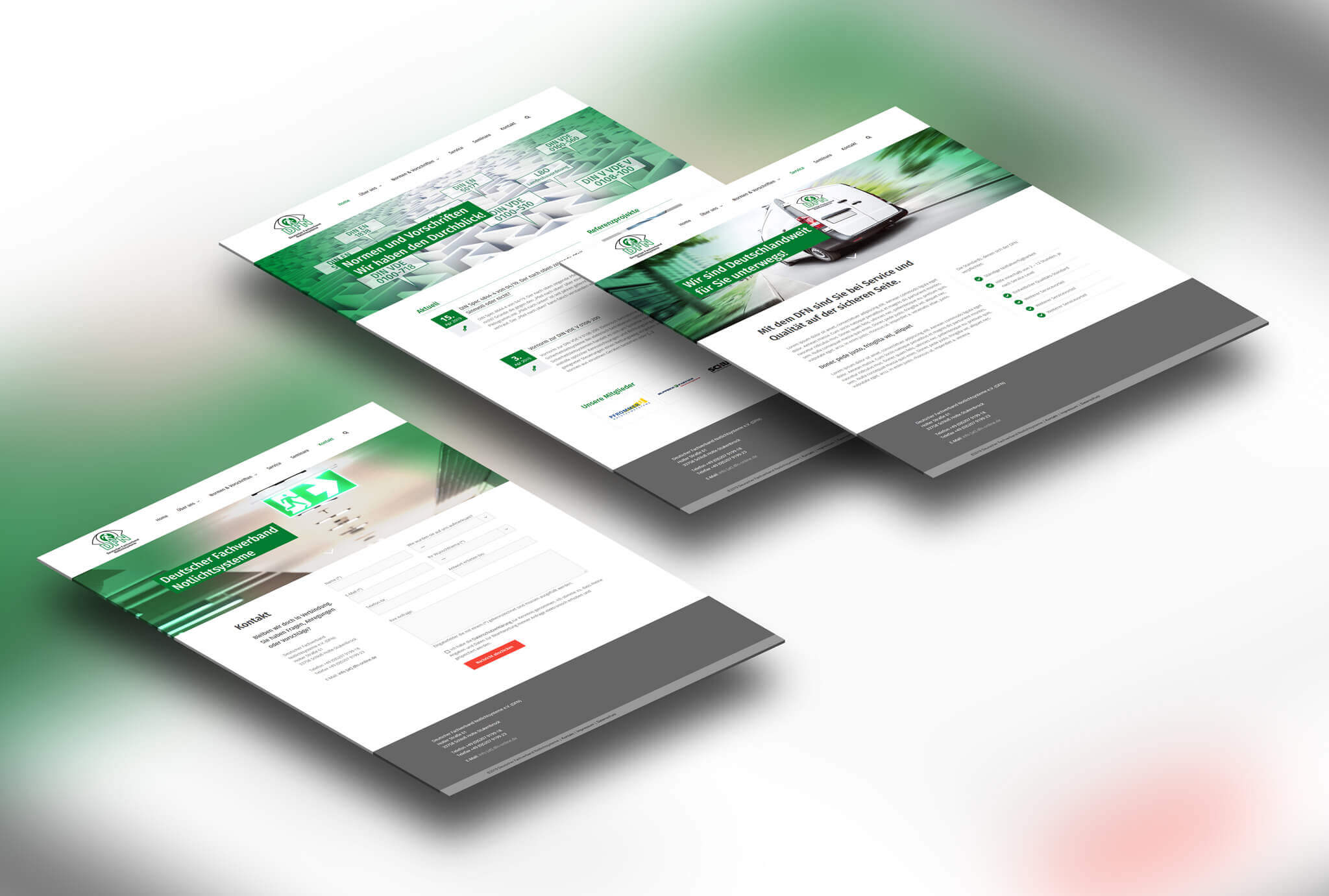 WordPress Website für DFN