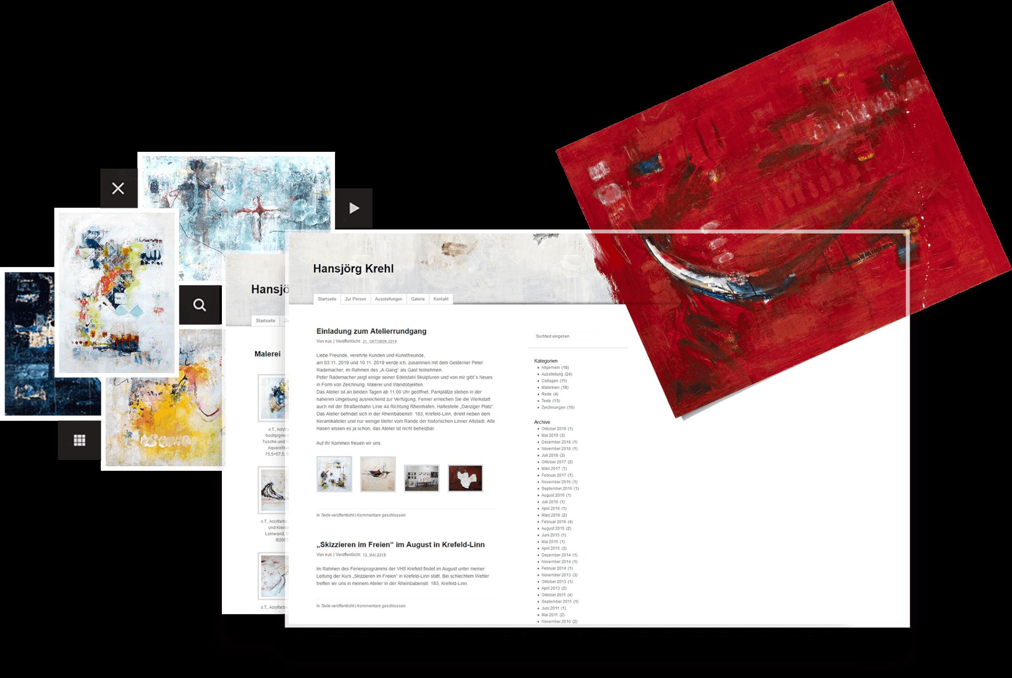 Website des Künstlers Hansjörg Krehl