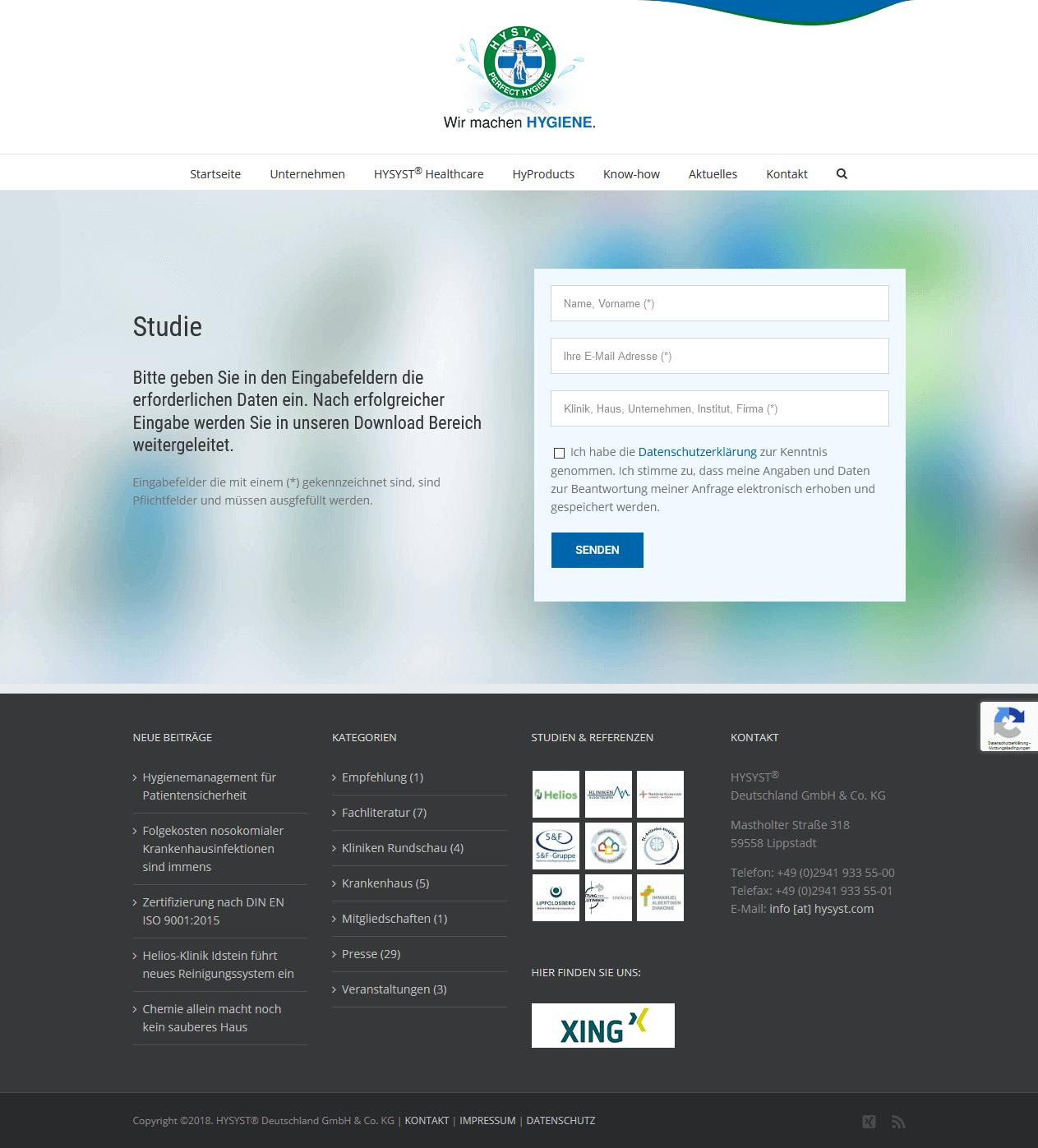 Website HYSYST