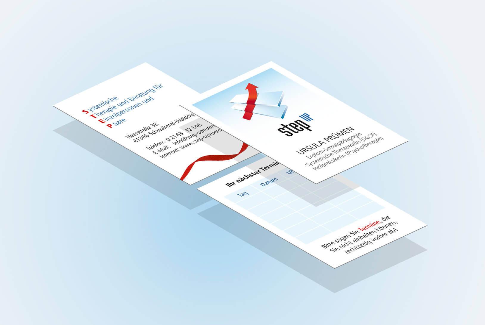 Geschäftsausstattung: Visitenkarte ISO Ansicht